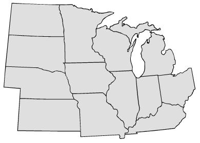 Blank Midwest Map Images Blank Map Midwest States Blank - Map of us midwest region
